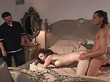 Slender barely legal wife nails a pornstar for fun here
