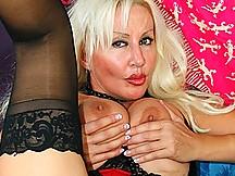 Nasty Blonde MILF's Pussy Creampied