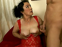 Grandma recieves a big cock