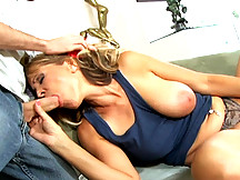 Sexy mom nailed by step-son