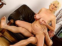 Nice jiggling mature boobies
